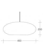 Dekorativna visilica aluminium bronza - mat bijela PD125-3B BRONZE/MATT WHITE