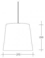 Dekorativna visilica aluminium  PD310-1 2272/7558C