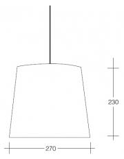 Dekorativna visilica aluminium  PD310-1 2222/Srebrna