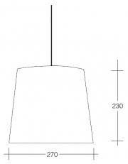 Dekorativna visilica aluminium  PD310-1 2273/2295
