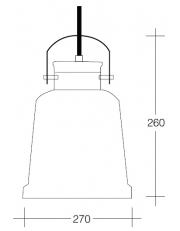 Dekorativna visilica aluminium crna - mat bijela PD303-1 MATT BLACK/MATT WHITE