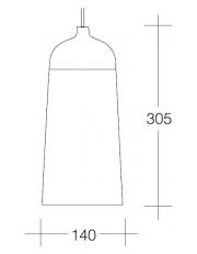 Dekorativna visilica aluminium  PD315-1D 7527C  2295/2295