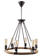 Dekorativni luster crni - uže MD40168-6