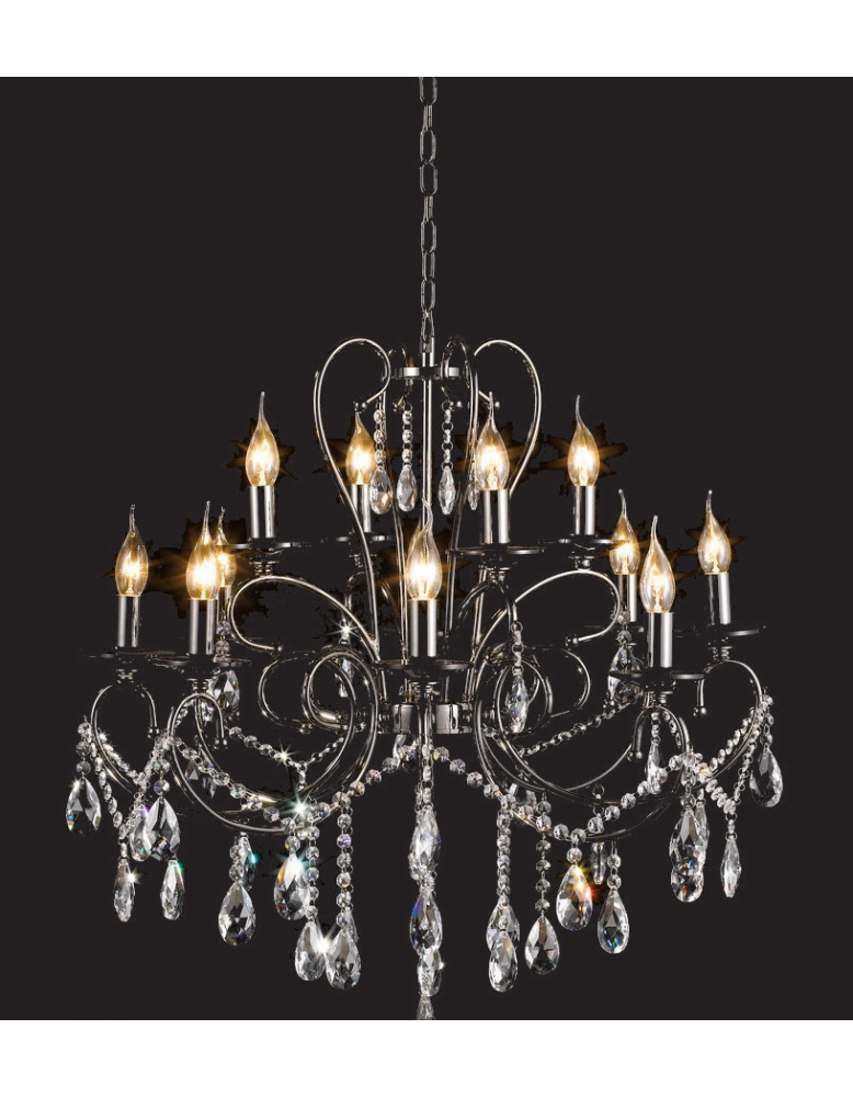 Dekorativni luster 80922 Black chrome frame