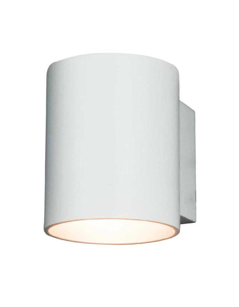Dekorativna stropna bijela - srebrna MURO TONDO WH/Srebrna