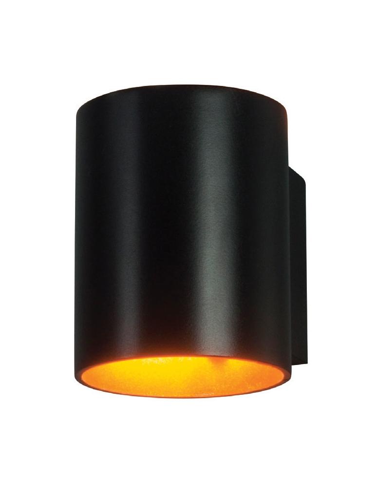 Dekorativna stropna crna - zlatna MURO TONDO BK/Zlatna