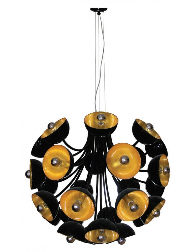 Dekorativna luster crna zlatna PD0049D28 PU01 BLACK/Zlatna