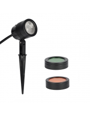 Vanjska rasvjeta podne LED-SPIKES-002-AC220-240V-6W-420lm-with 2 PCS  changeable  filters